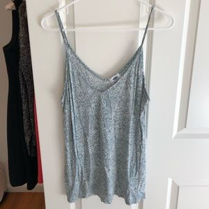Old Navy green and white tank top, size large